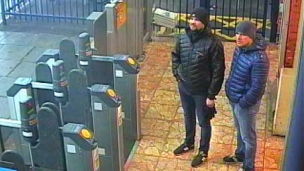 CCTV images of the men wanted in connection with the Salibury poisoning