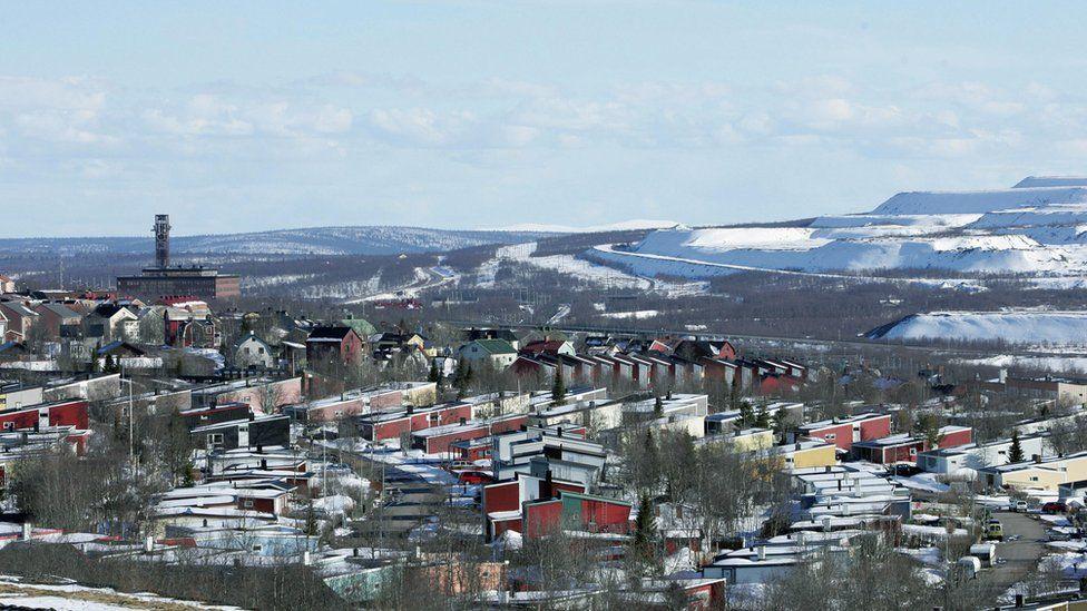 Swedish town of Kiruna