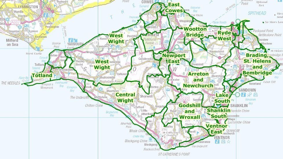Isle Of Wight existing divisions