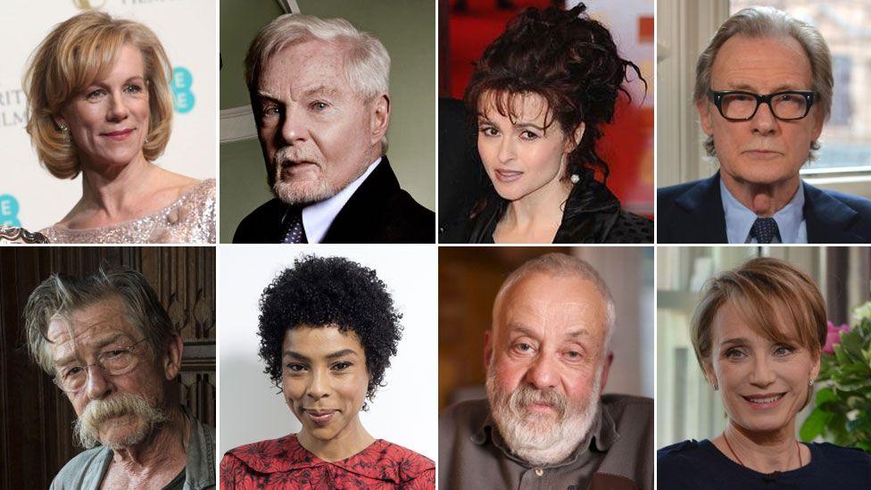 Juliet Stephenson, Derek Jacobi, Helena Bonham Carter, Bill Nighy, Kristen Scott-Thomas, Mike Leigh, Sophie Okonedo, John Hurt