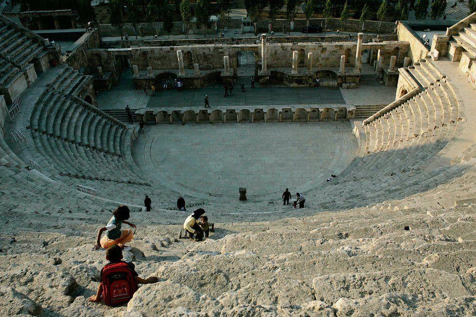 Roman amphitheatre in Amman, Jordan (file)