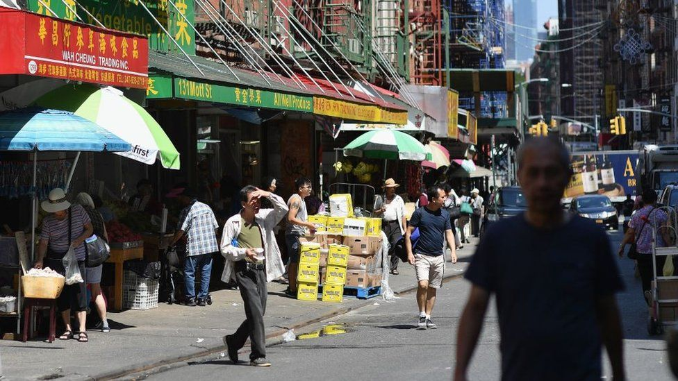 The battle over which flag to fly in America's Chinatowns