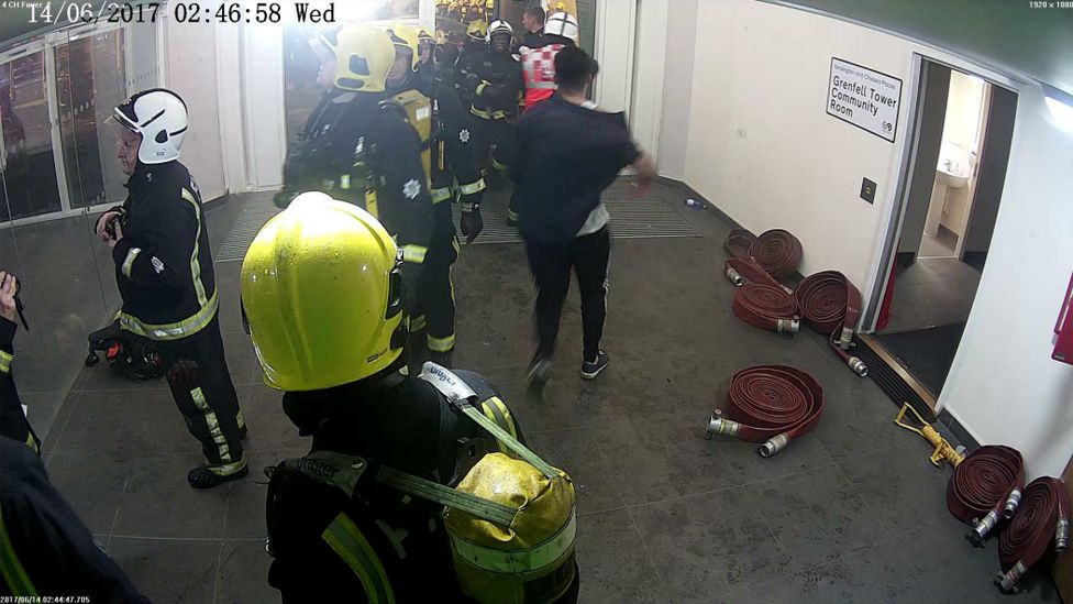 Omar Alhaj Ali leaves the building - image from CCTV
