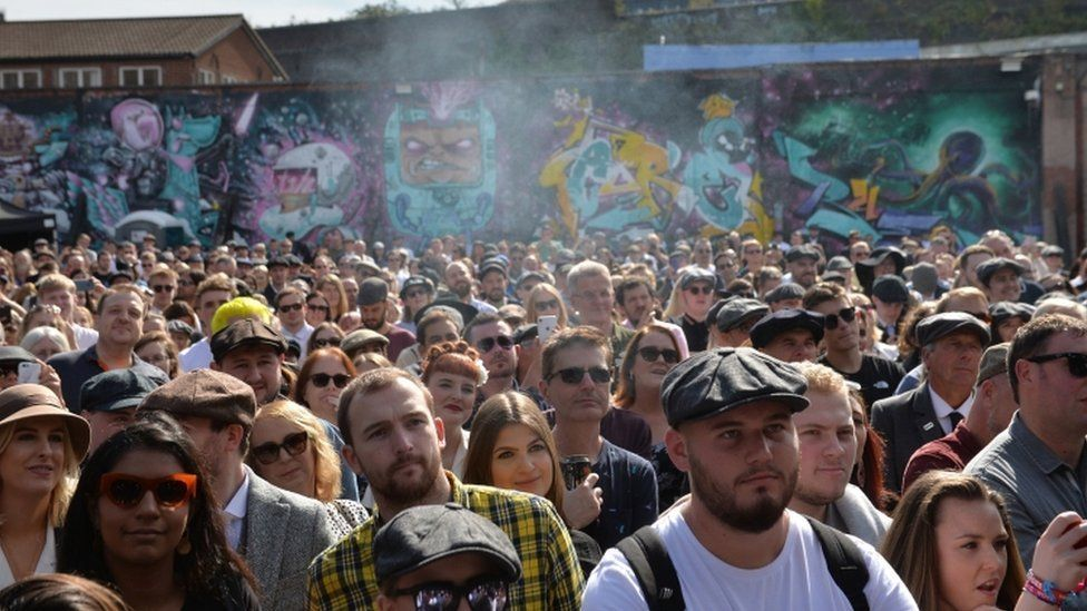 Thousands of Peaky Blinders fans at Digbeth festival
