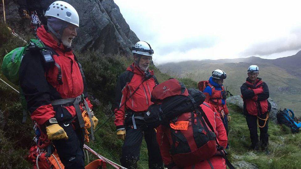 Ogwen Valley Mountain Rescue team
