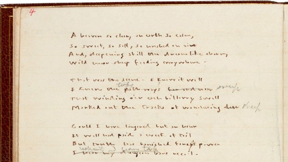 Emily Bronte's handwritten poems