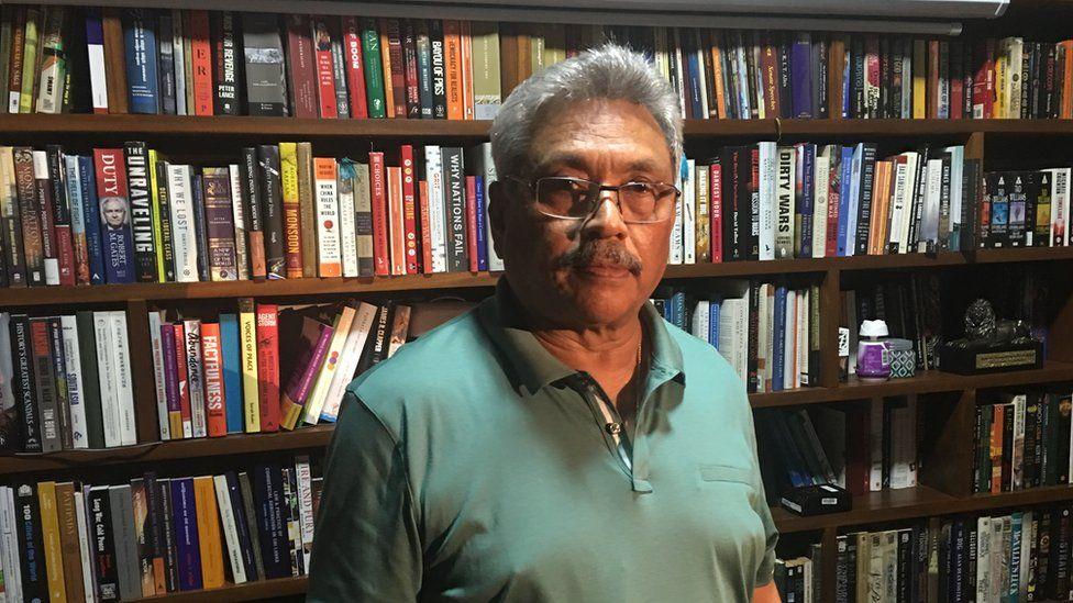 Gotabhaya Rajapaksa pictured at home
