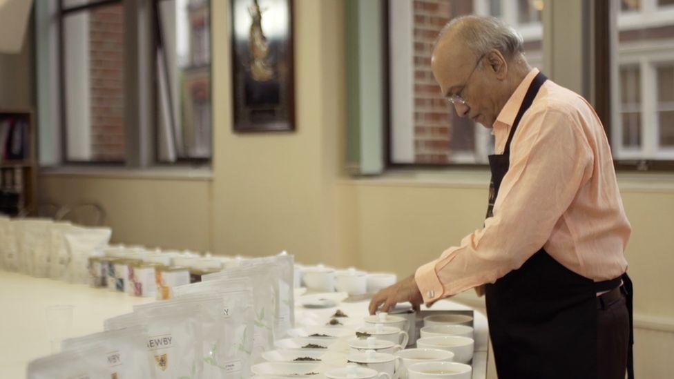 Mr Sethia tasting teas