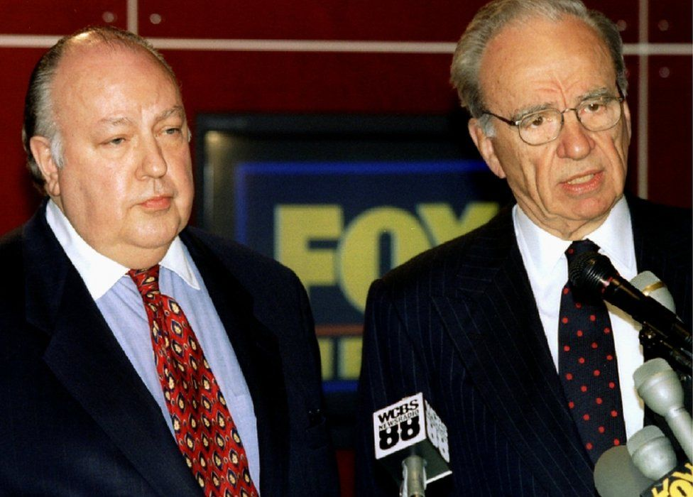 An 1995 archive picture of Rupert Murdoch and Roger Ailes