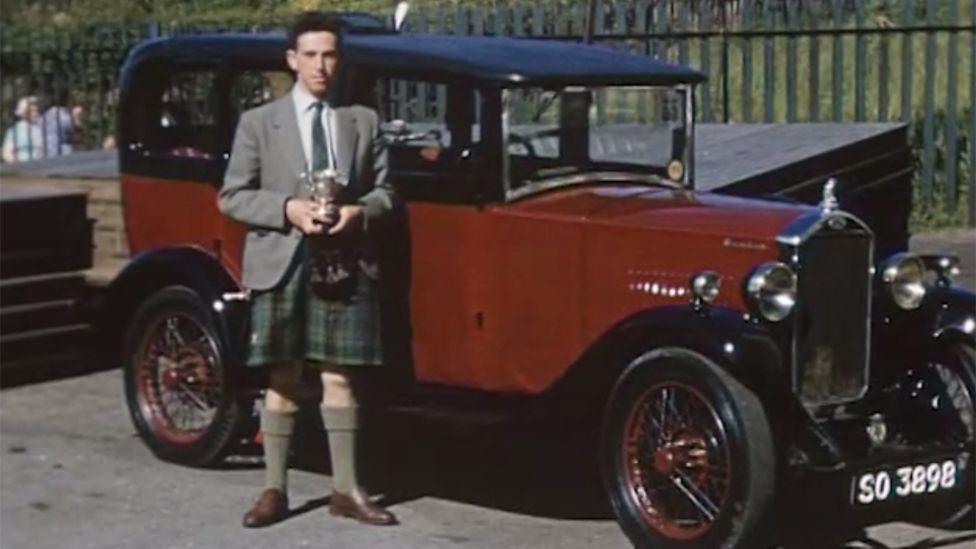 Bert Davidson with the car