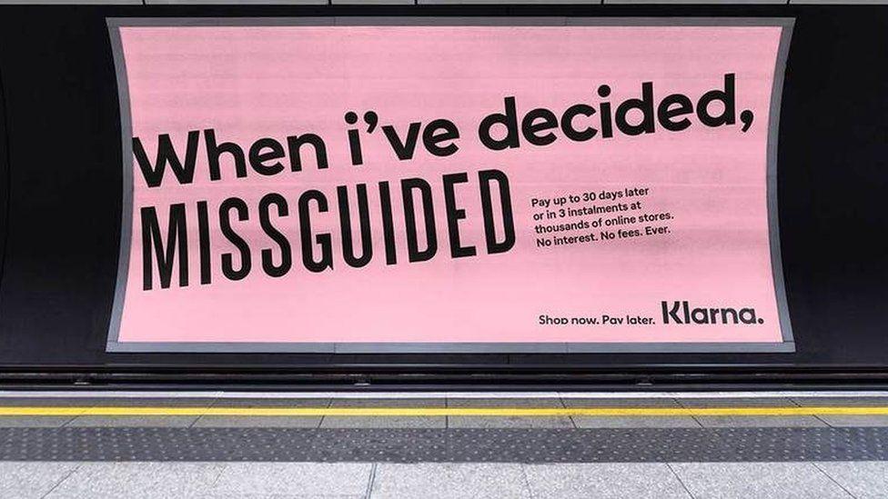 Klarna advertisement