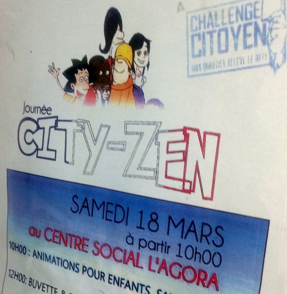 Citizen Challenge poster in La Busserine