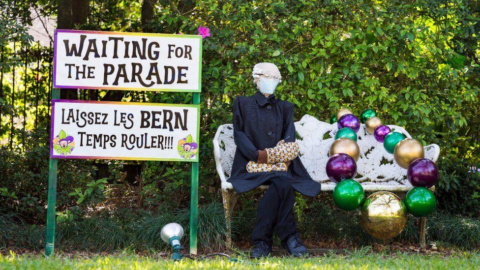 A spoof of the Bernie Sanders meme in New Orleans