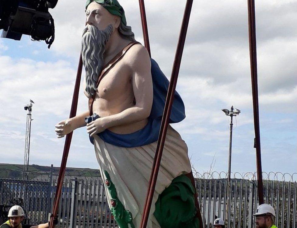 Figurehead of a river god from HMS Tamar