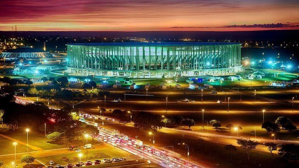 Mane Garrincha National stadium in Brasilia on June 14, 2013