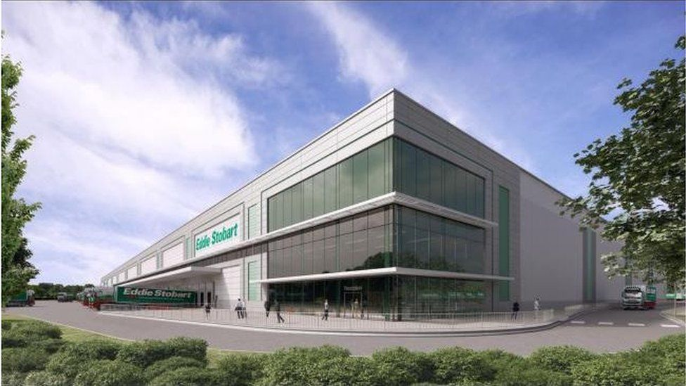 How the new Eddie Stobart warehouse facility could look