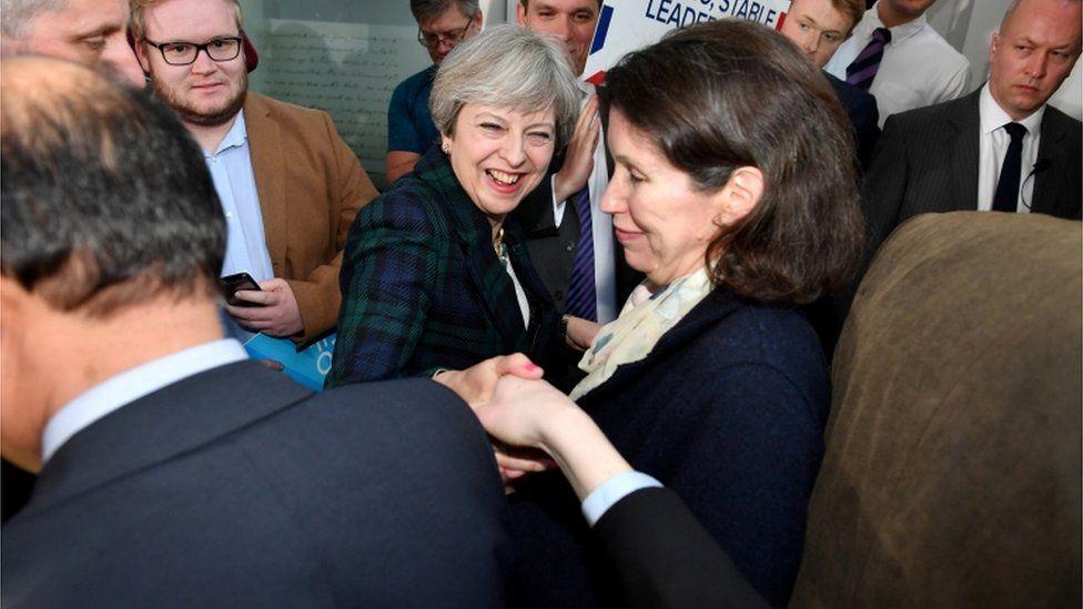 Theresa May in Leeds