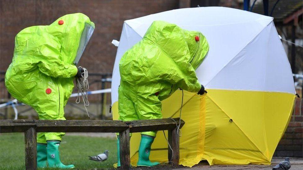 Contaminated bench in Salisbury