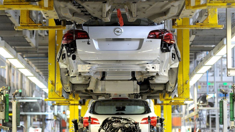 Vauxhall Astra production line at the Vauxhall Motors factory in Ellesmere Port, Cheshire
