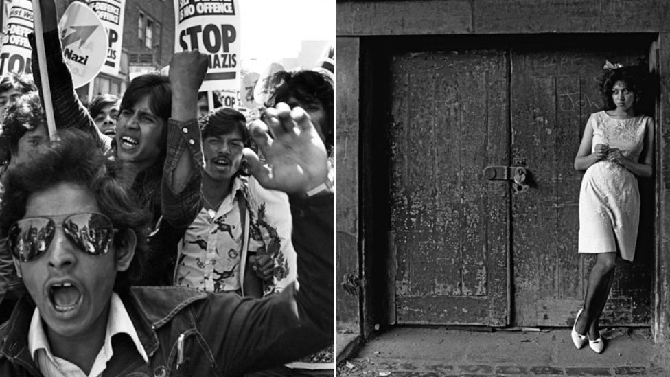 Bengali youths, London, 1978, and Hackney, East London, 1980