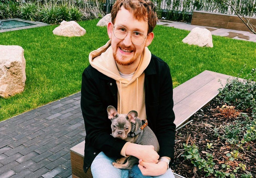 Stephen Smith with his dog