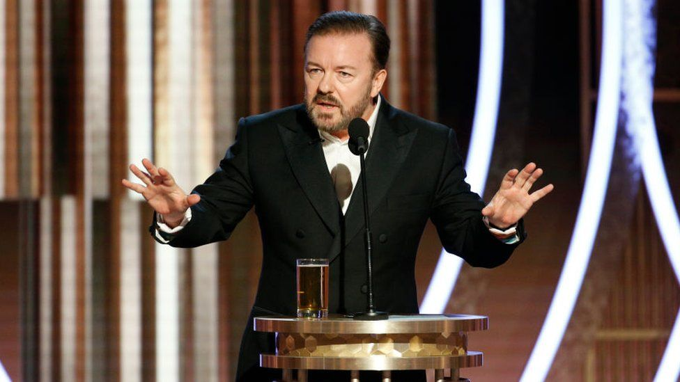 Apple became the target of Ricky Gervais