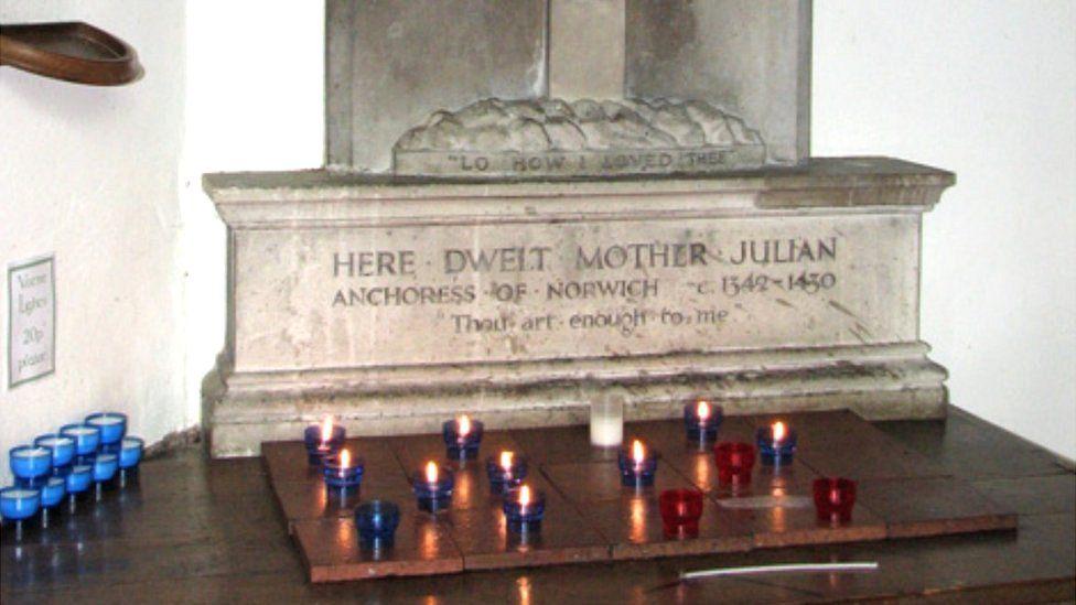 Memorial to Julian in St Julian's church