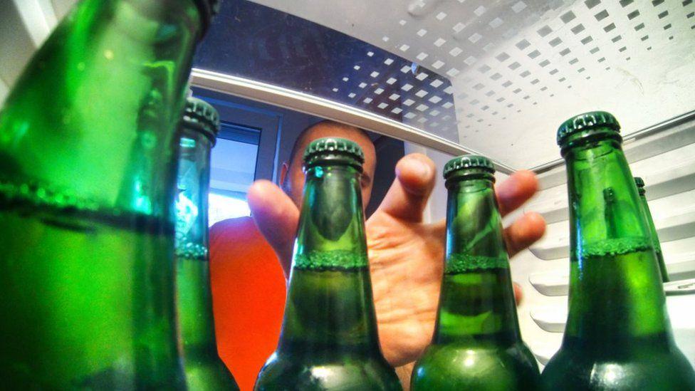 Beers in fridge