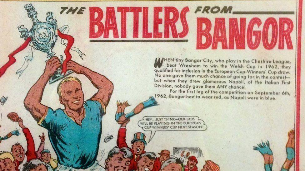 Roedd camp Bangor yn stori 'Roy of the Rovers' go iawn