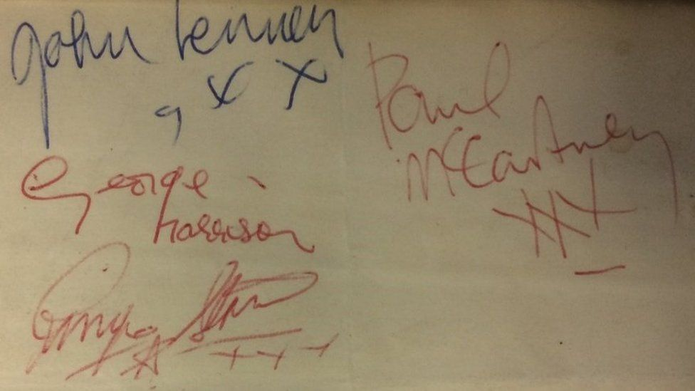 Fab Four signatures
