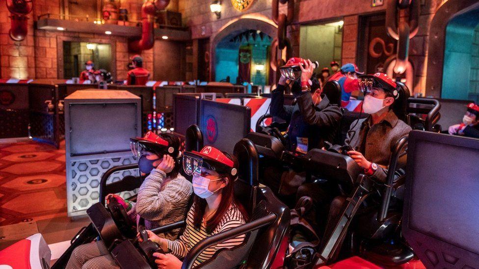 Riders at Super Nintendo World