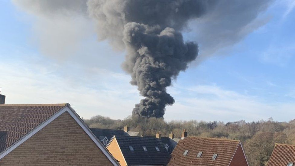 Smoke from fire