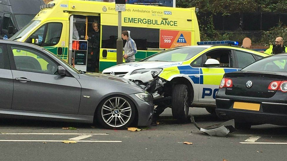 Police crash on Parker Drive, Leicester
