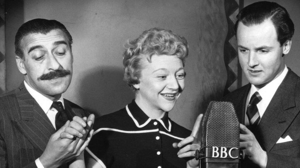 Parsons (r) in Much-Binding-in-the-Marsh with Sam Costa and Dora Bryan
