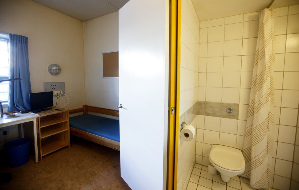 A cell at Skien prison, where Anders Breivik has been serving his sentence since 2013