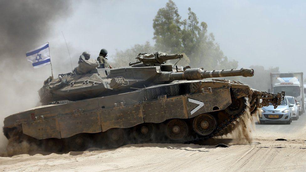 Israeli Merkava tank, 2014