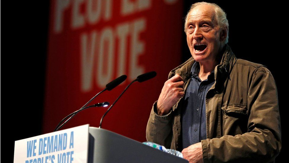 Charles Dance at the People's Vote rally
