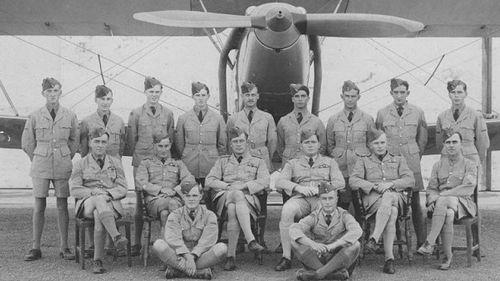 Sqn Ldr Cremin with other RAF pilots