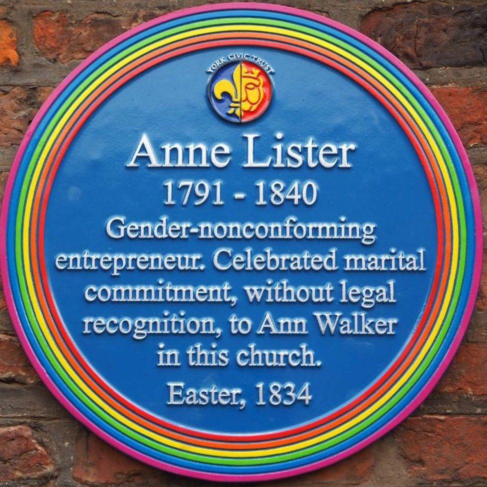 Anne Lister plaque