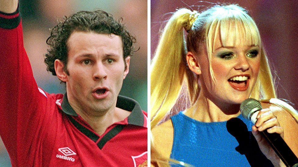 Ryan Giggs and Emma Bunton were both big in the 1990s