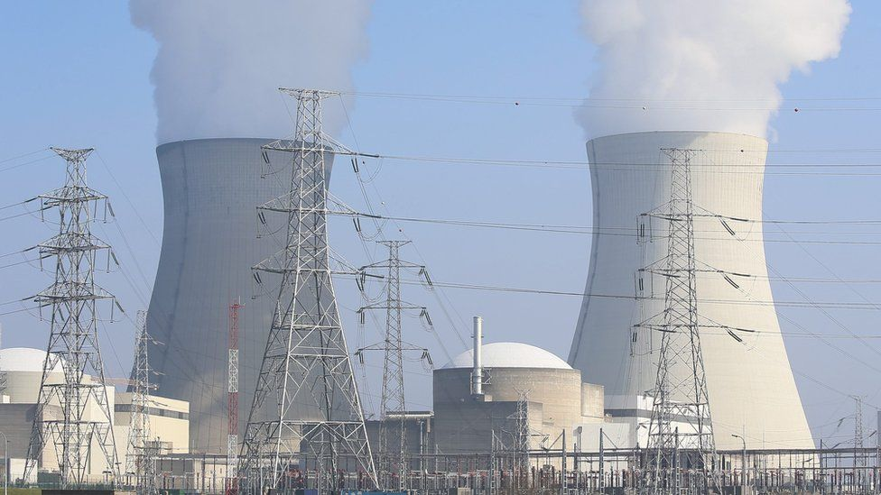 Nuclear power plant in Doel, Belgium (12 March 2016)
