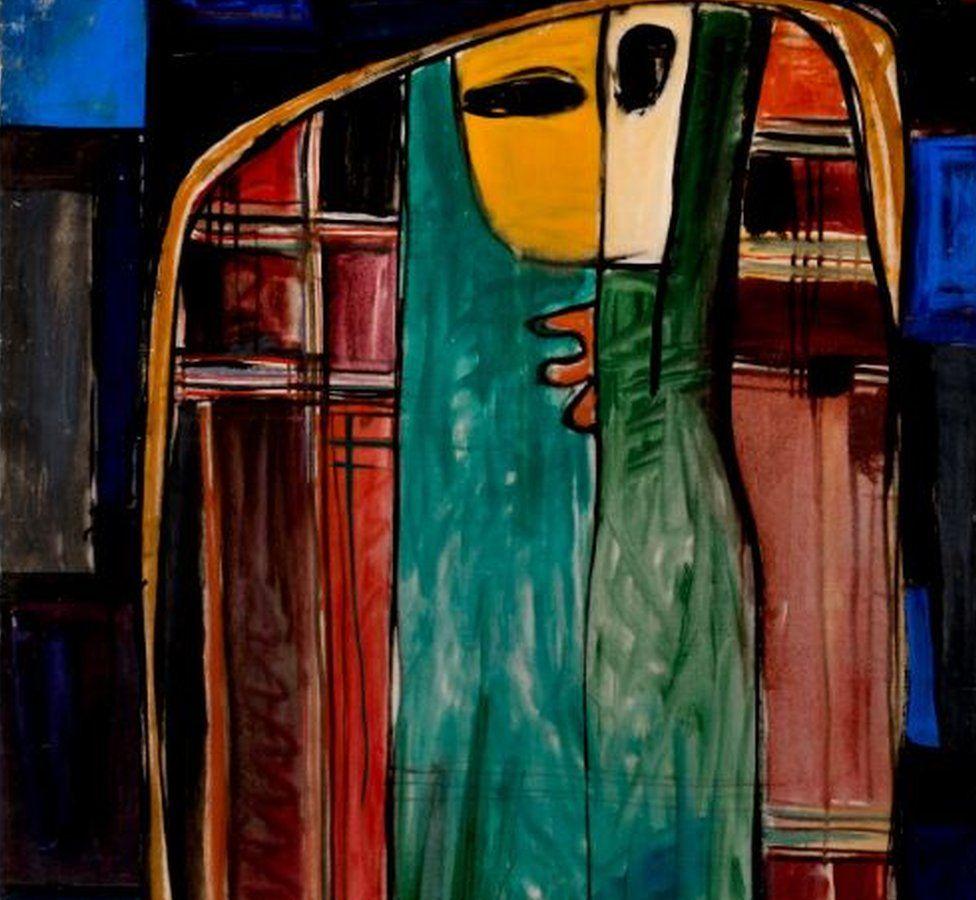 Sirak Melkonian, Veiled Woman, 1957