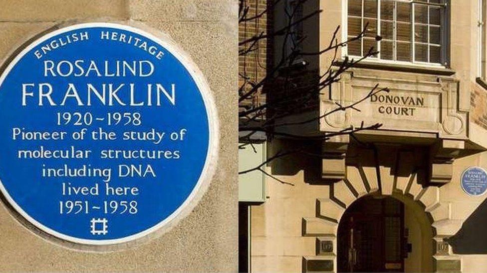 Blue plague to honour Rosalind Franklin