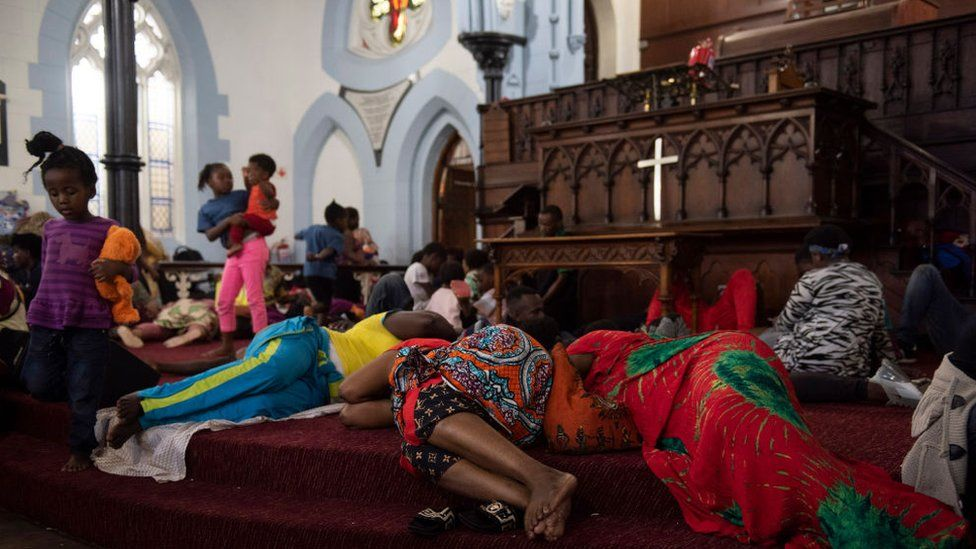 Archbishop Thabo Makgoba hit in South Africa church refuge scuffle