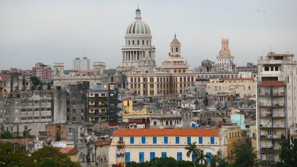 General view showing Havana old town, Cuba