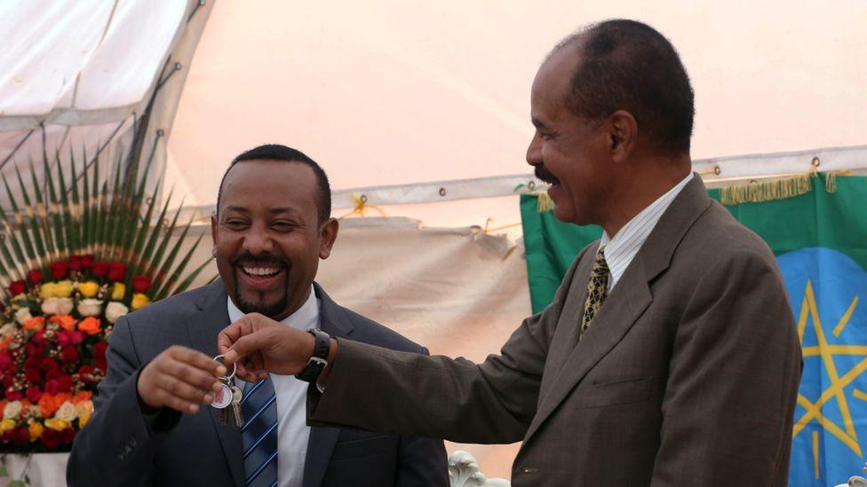Ethiopian and Eritrean leaders meet in Addis Ababa, July 2018