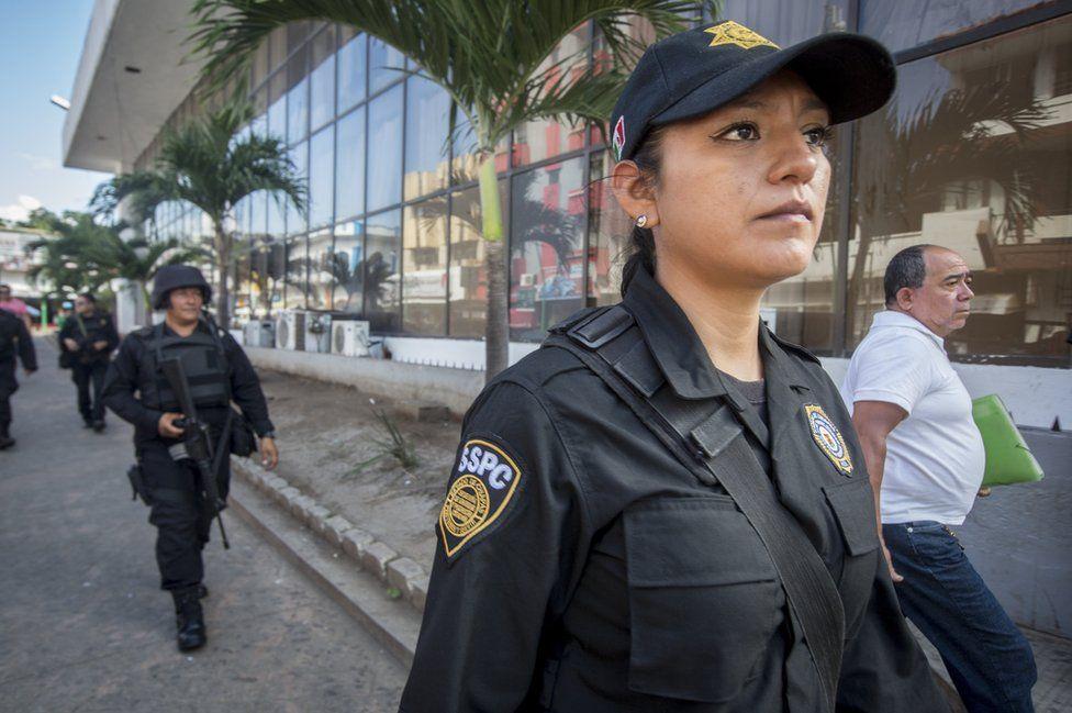 Sgt Conchita Lopez on patrol