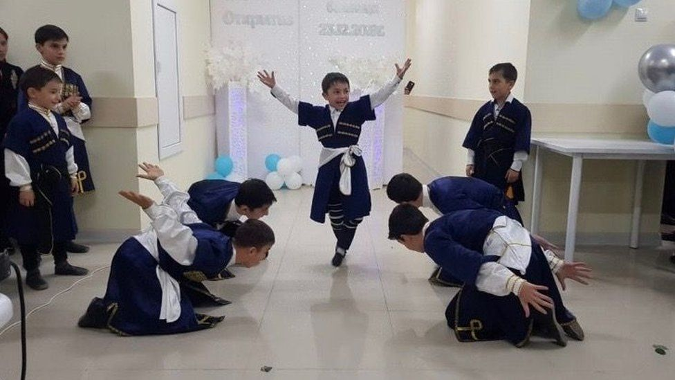 The local hospital opened only in December and local children were seen dancing in celebration