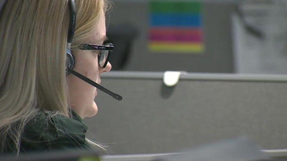 Emergency control room worker