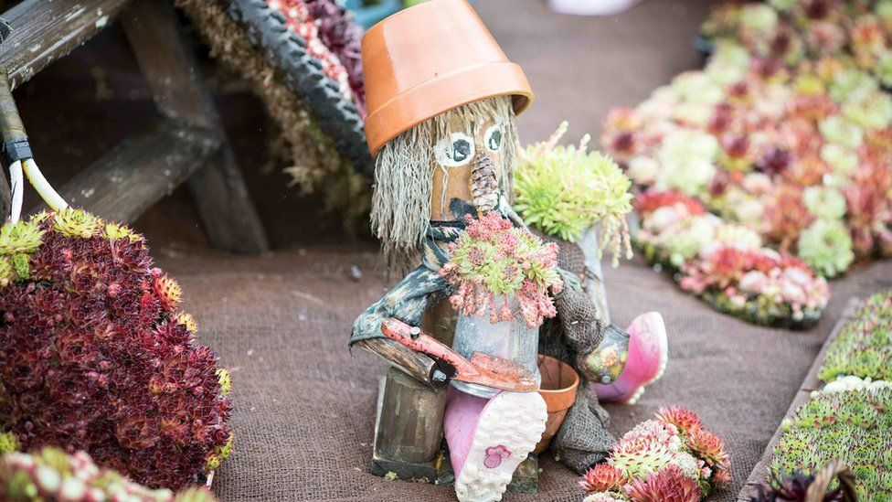 Flowerpot man at RHS Chatsworth